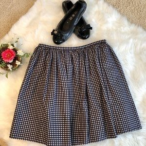Madewell Black and White gingham skirt